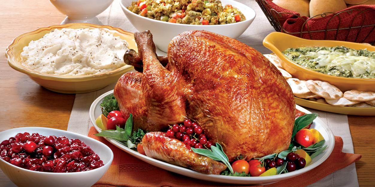 decorative turkey dinner