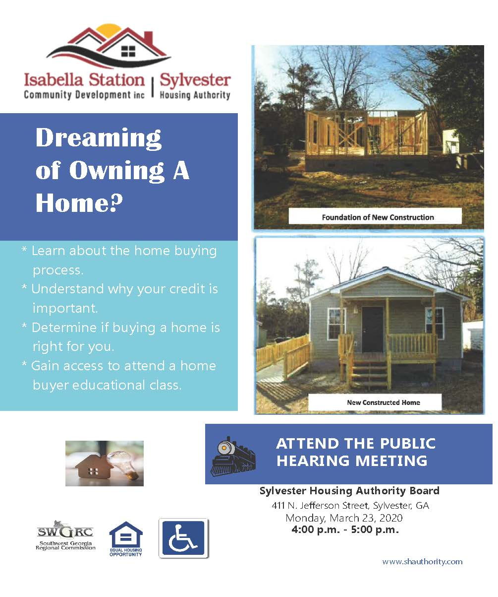 Public Hearing Meeting - Home Ownership